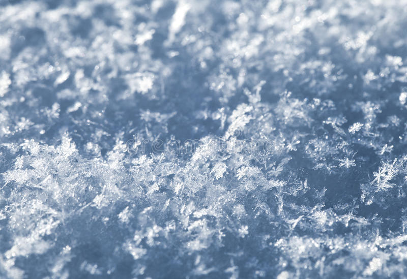 Snow texture, macro. Surface of fresh snow in winter, macro shot royalty free stock photography