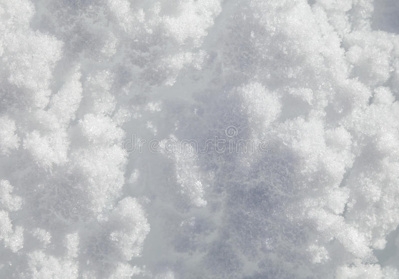Snow texture, macro. Surface of fresh snow in winter, macro shot royalty free stock images