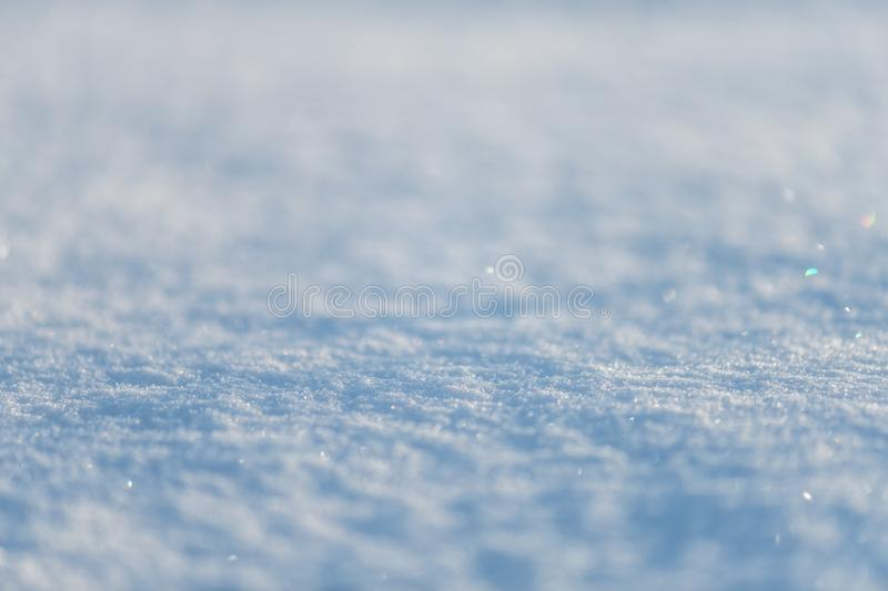 Snow texture with perspective or winter white background in light blue tone. stock photos