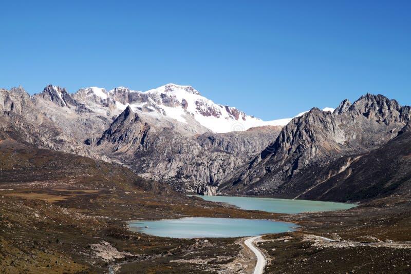 snow tibet för berg s arkivfoton