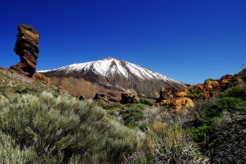 snow toppped vulkan fotografering för bildbyråer