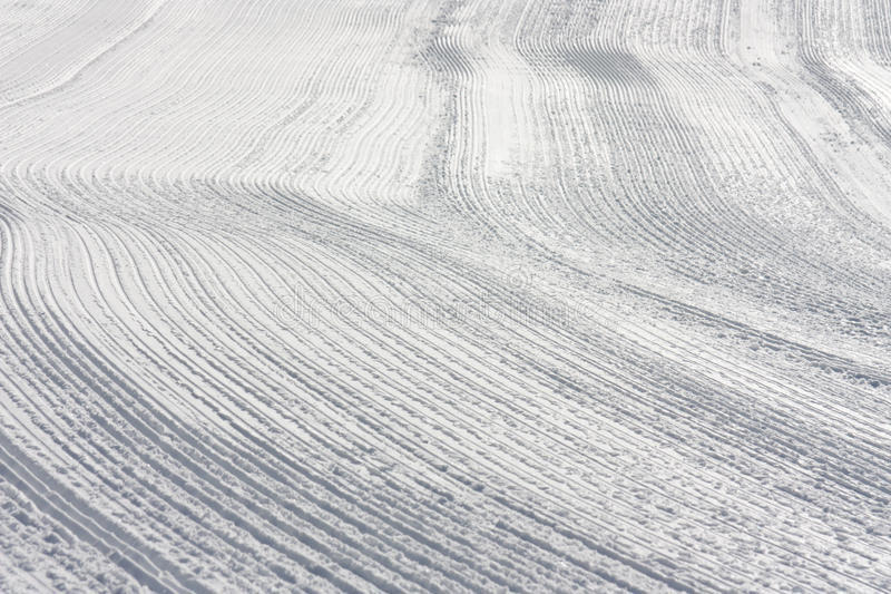 Download Snow Tracks On Slope Made By Ratrack Stock Photo - Image of preparation, piste: 29169744