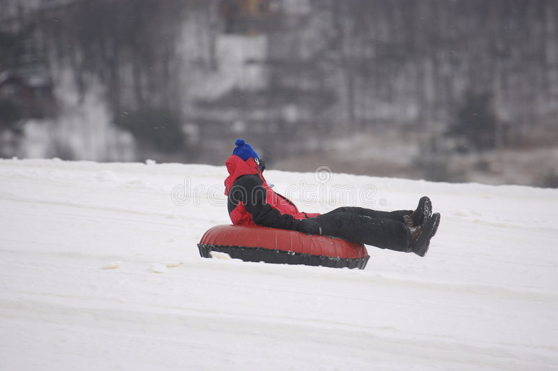 Download Snow Tubing stock photo. Image of sledding, inner, happy - 694114