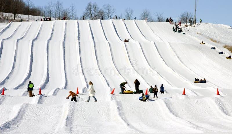Download Snow tubing runs stock image. Image of slide, tubing, pink - 8736563