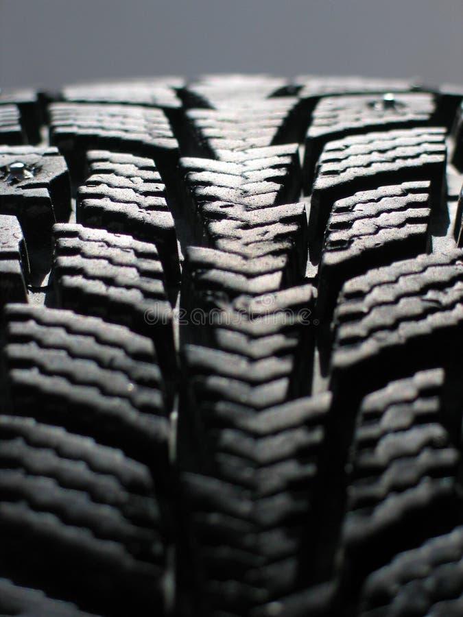 Snow tyre stock photography