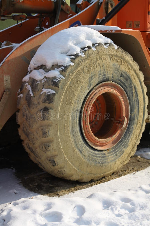 Download Snow on tyre stock photo. Image of outdoor, bulldozer - 23324400