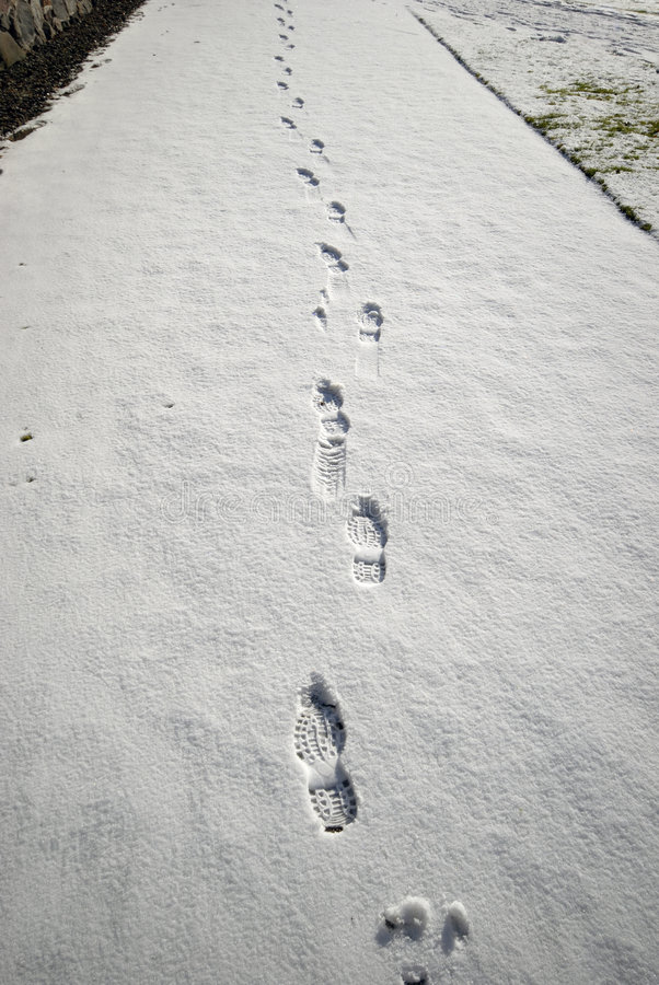 Snow walking royalty free stock photography