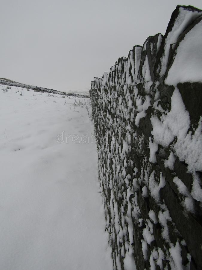 Snow wall stock image
