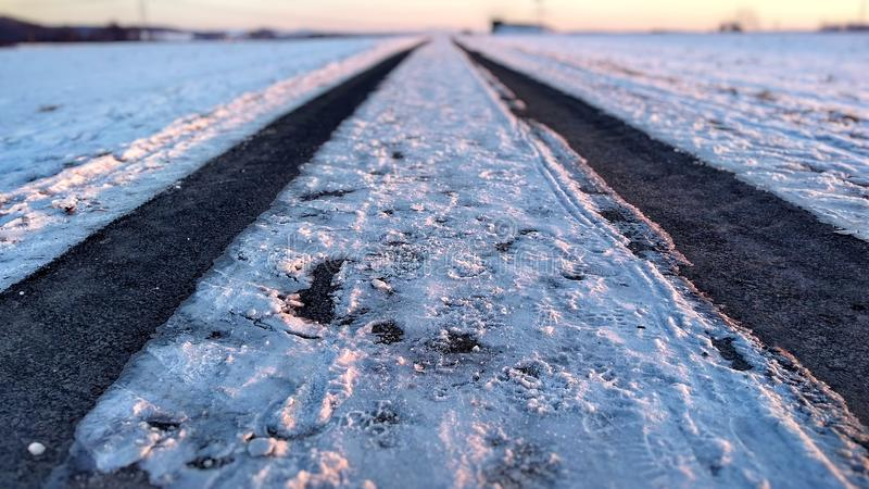 Snow Way stock images