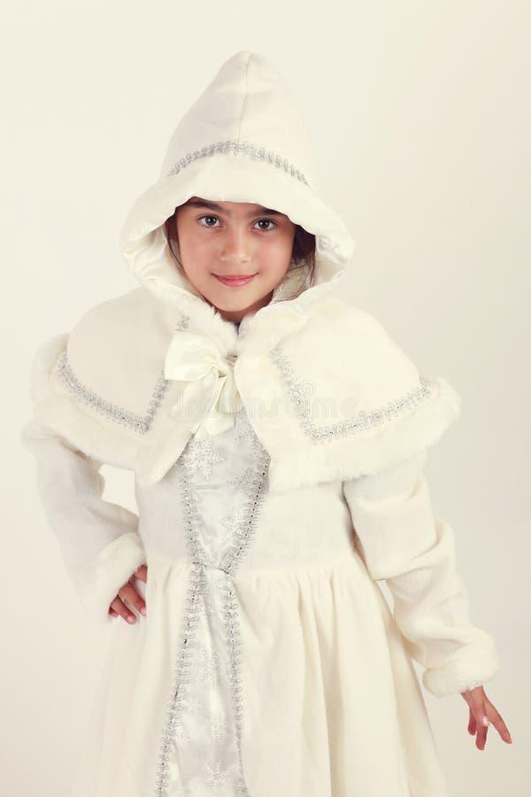 Snow white. Christmas snow white angel costume royalty free stock image