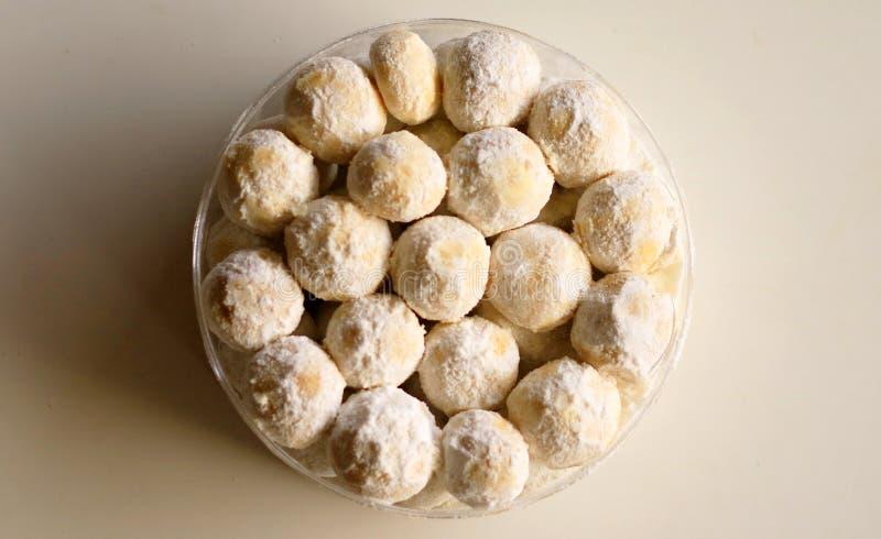 Kue Puteri Salju. Snow White Cookies or Kue Puteri Salju. Typical delicacy for festive occasions and major holidays, such as Lebaran Eid ul-Fitr, Natal Christmas stock photo