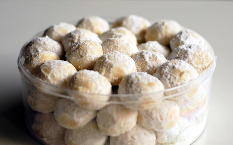 Kue Puteri Salju. Snow White Cookies or Kue Puteri Salju. Typical delicacy for festive occasions and major holidays, such as Lebaran Eid ul-Fitr, Natal Christmas royalty free stock photography