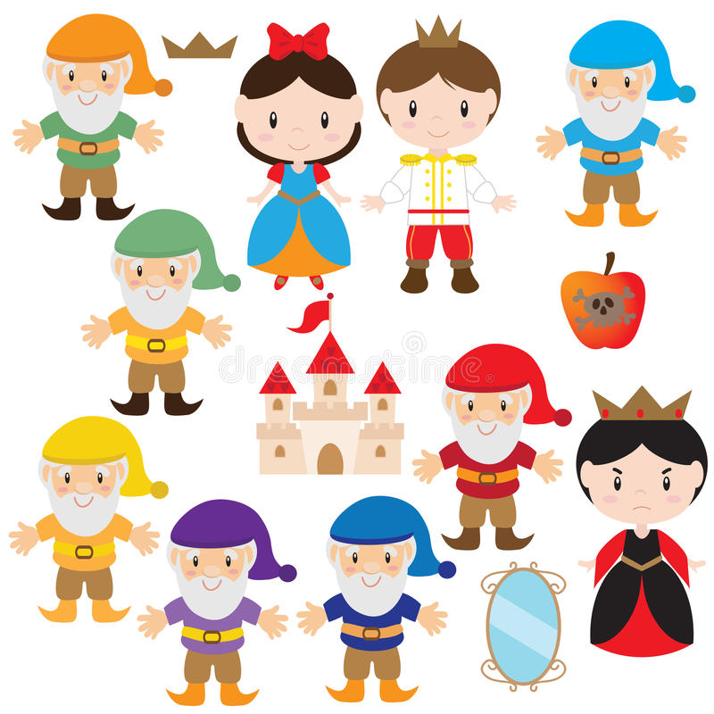 Snow White vector illustration royalty free stock photography