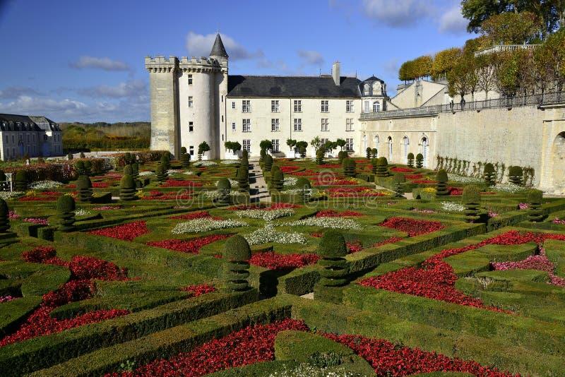 Geometrical garden Villandry royalty free stock images