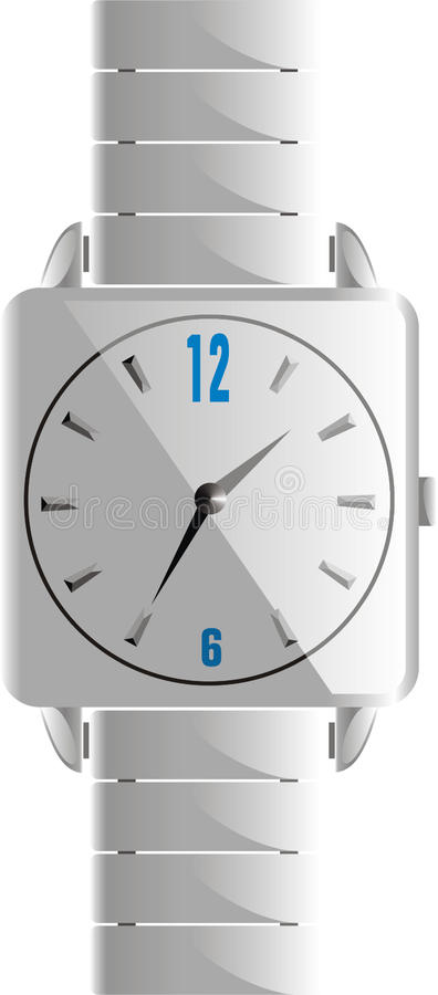 Download Snow White Watch stock vector. Image of white, mens, bracelet - 10979841
