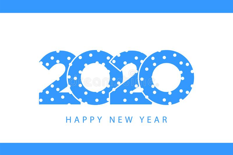 Snow winter blue 2020 happy new year royalty free illustration