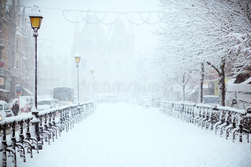 Snow, Winter, Freezing, Blizzard royalty free stock photography