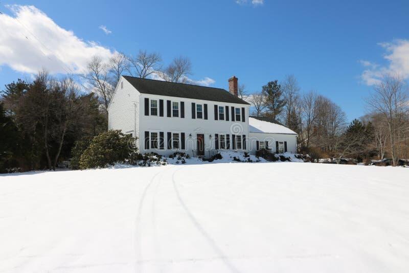 Snow, Winter, Home, Sky royalty free stock photos