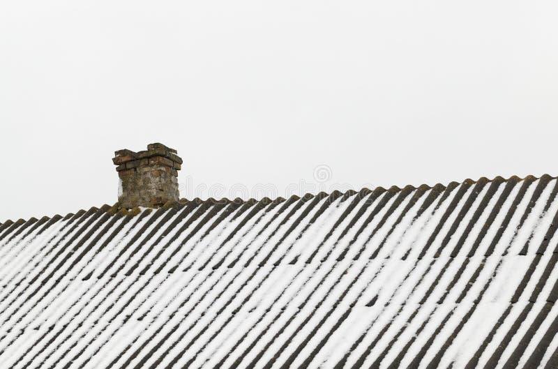 Snow in winter stock photo