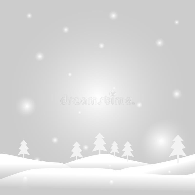Snow in winter vector royalty free illustration
