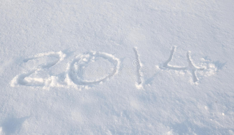 Download The snow of 2014 stock image. Image of date, holidays - 36218723