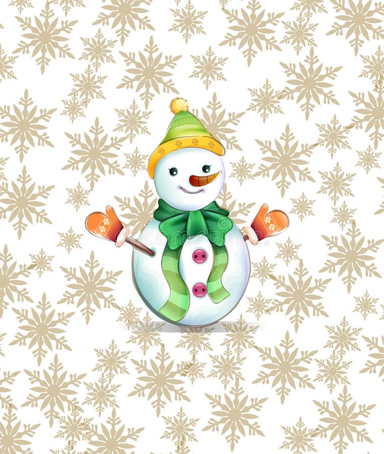 Snowbaby, śnieg, wektor, ilustrator