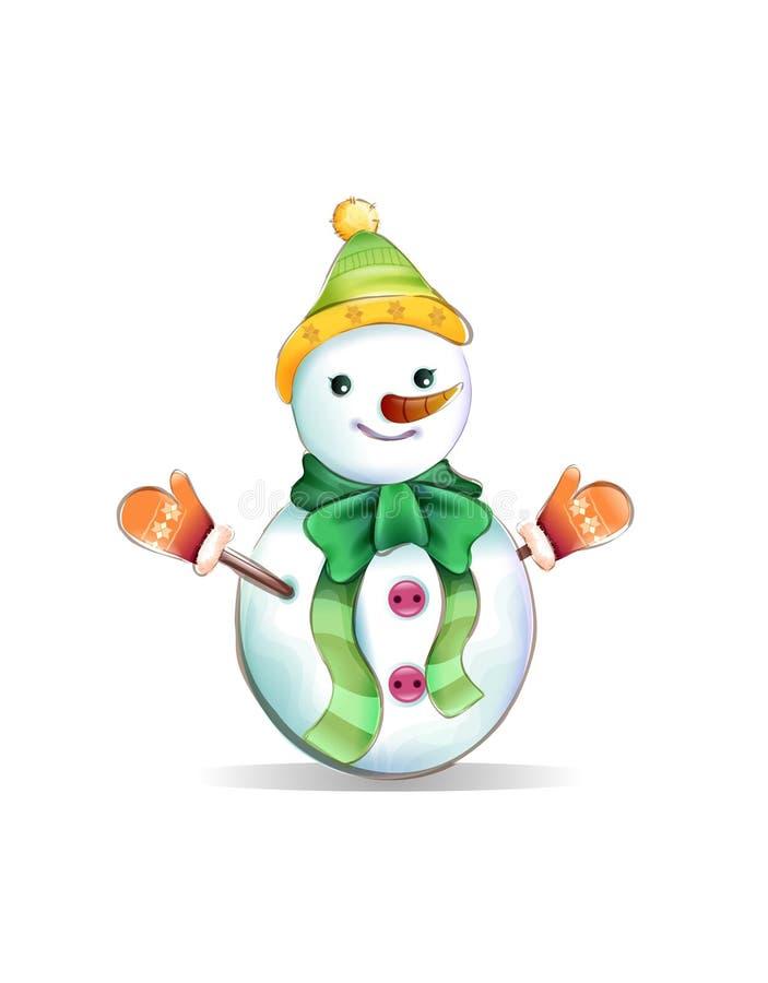 Snowbaby, neige, vecteur, illustrateur, dall, vecteur, illustrateur
