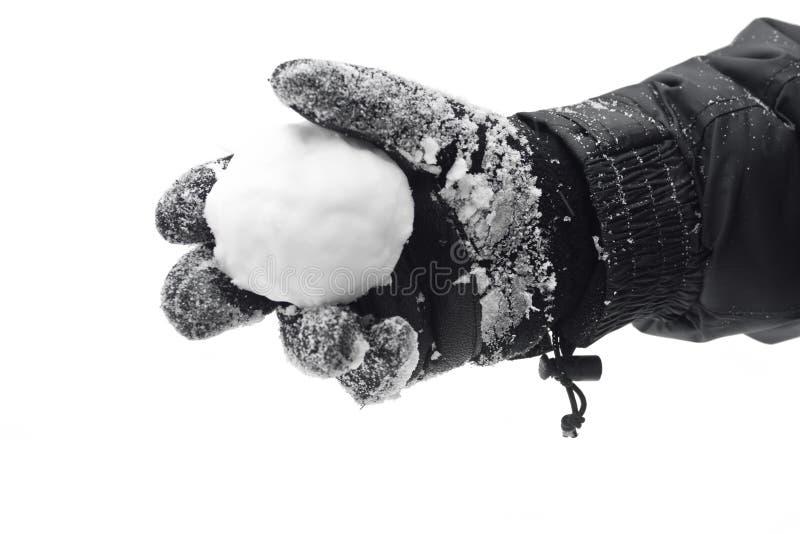 Snowball à disposicão foto de stock