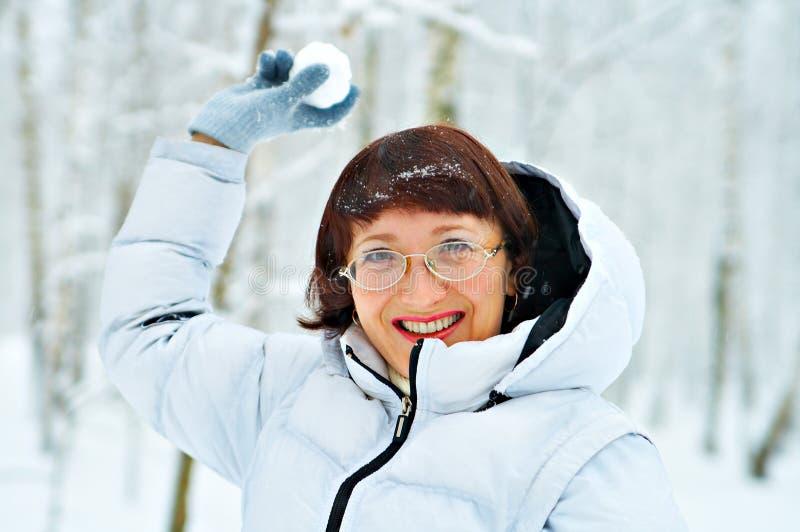 snowball игры стоковое изображение