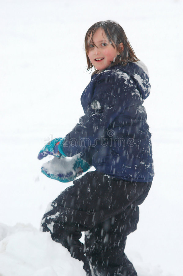 Download Snowball stock photo. Image of ball, girl, laughing, gloves - 1203436
