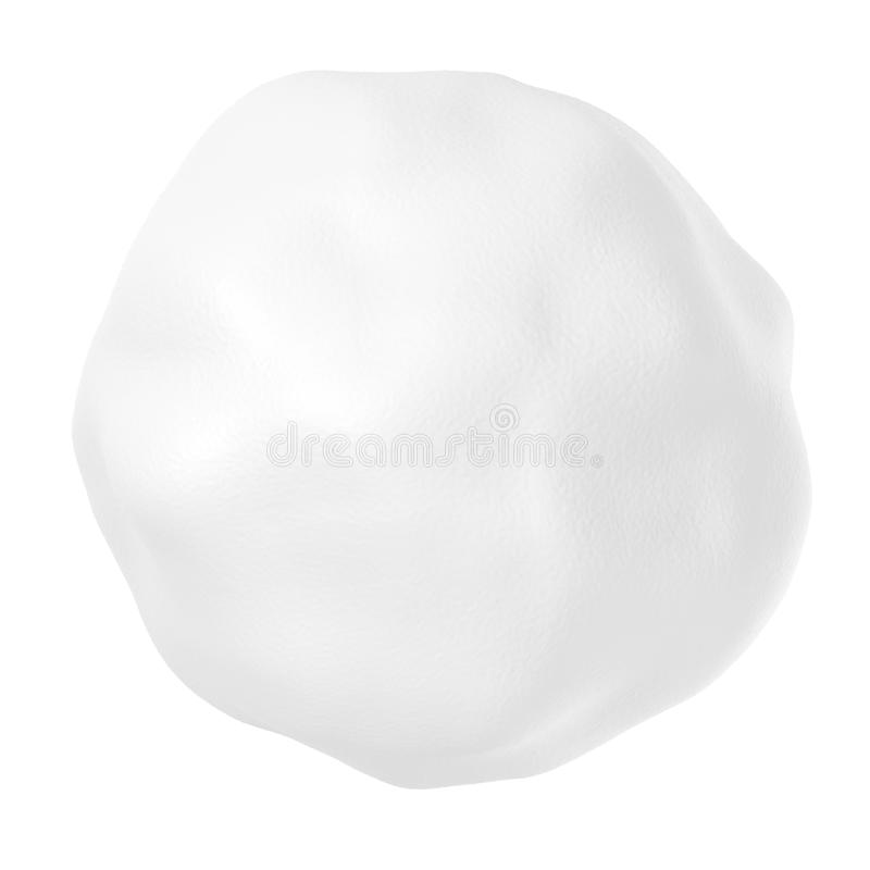 Snowball avec d'isolement sur le blanc photos stock