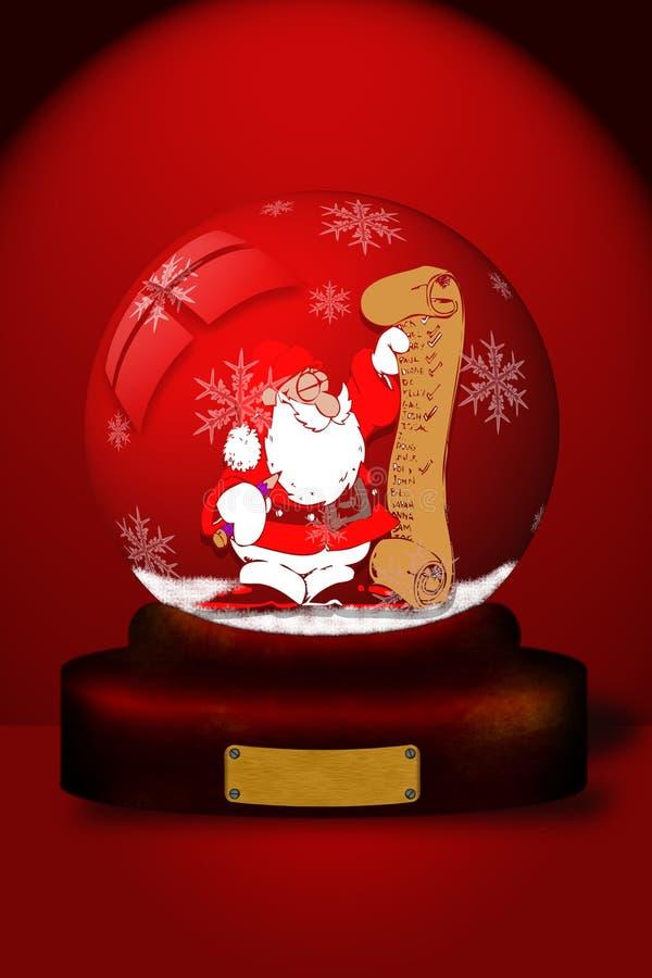 Snowball com Papai Noel ilustração royalty free