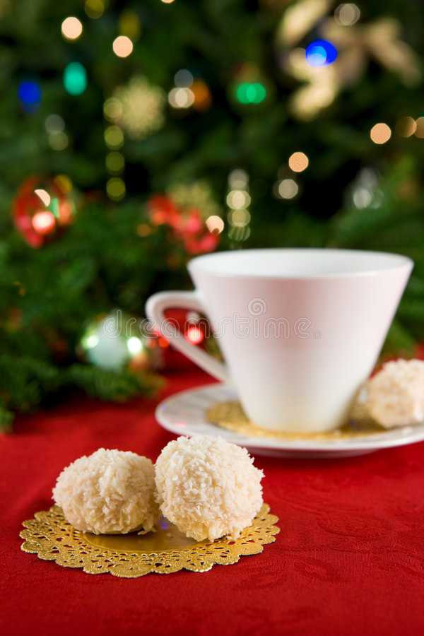Snowball cookies royalty free stock images