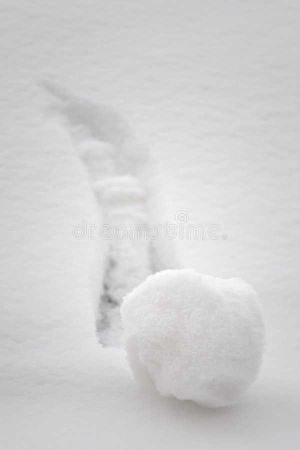 Free Snowball Going Downhill - Brainstorming Concept Stock Image - 8243591