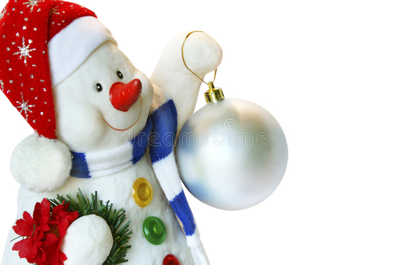 Snowball isolado fotografia de stock royalty free