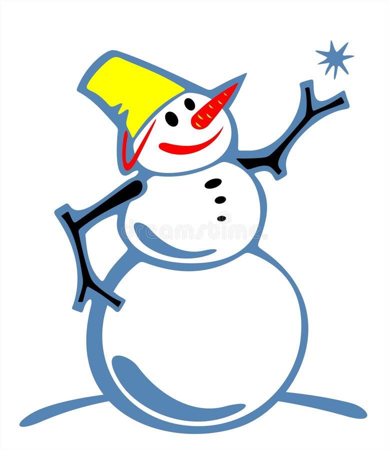 Snowball ornamentado ilustração do vetor