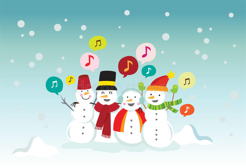 Download Snowball singing stock vector. Image of happy, december - 16791671