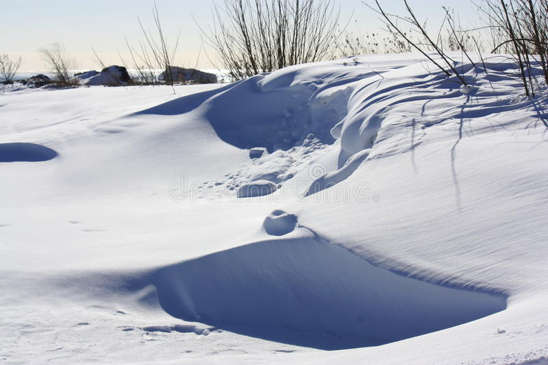 Snowbank images libres de droits