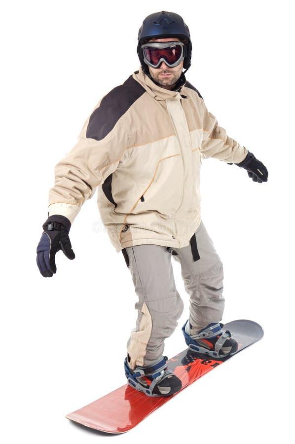 Snowbarder lizenzfreies stockfoto