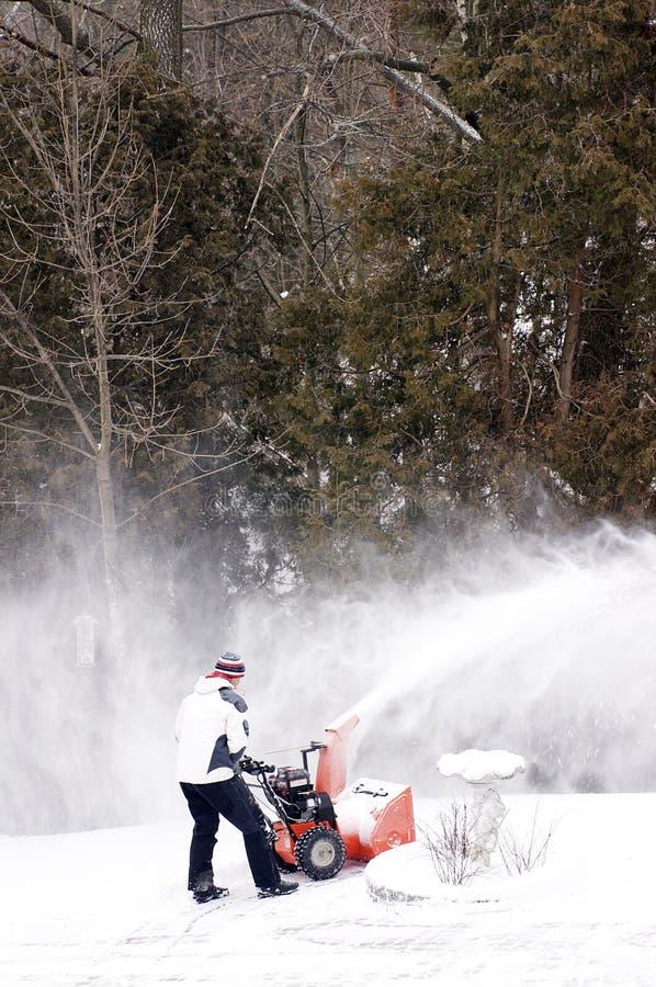 snowblower χιονιού καθαρίσματος στοκ εικόνα με δικαίωμα ελεύθερης χρήσης