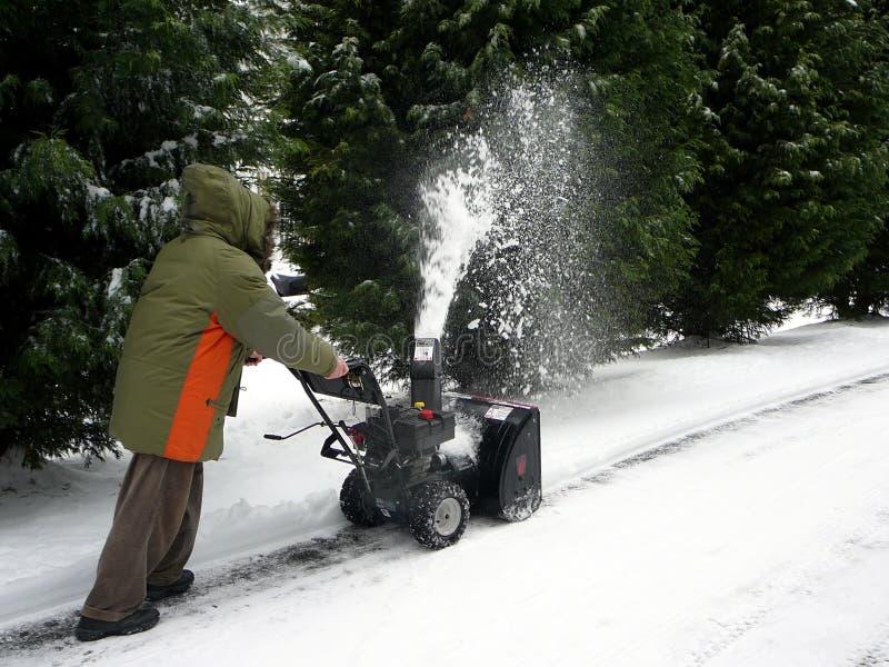 snowblower στοκ φωτογραφίες
