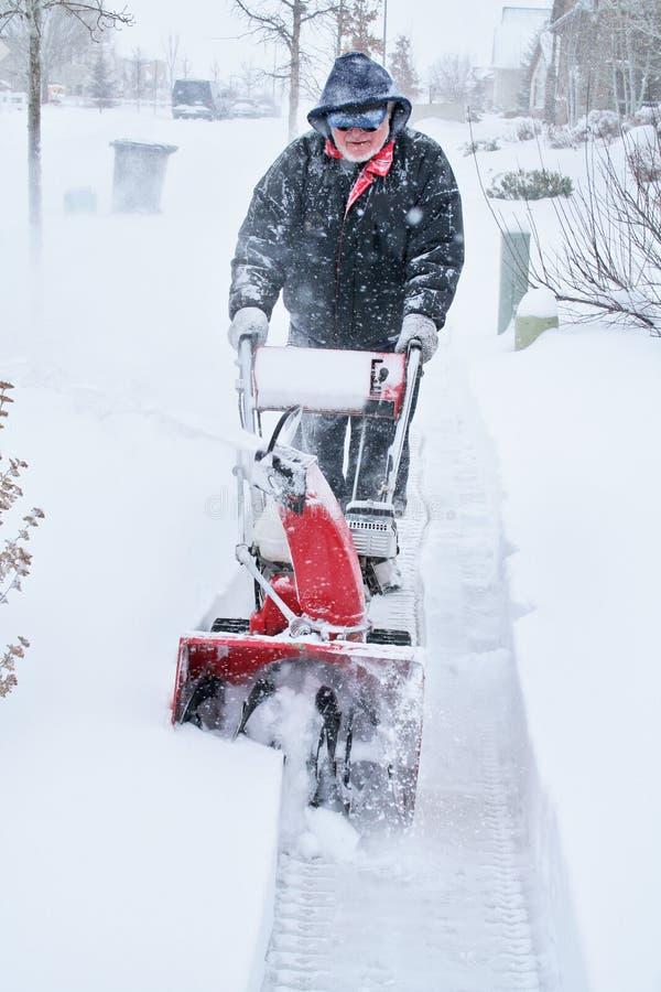 Snowblower stock images