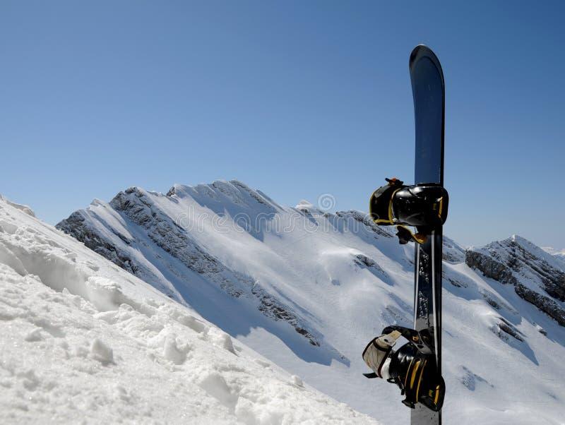 snowboard гор конца стоковое фото rf