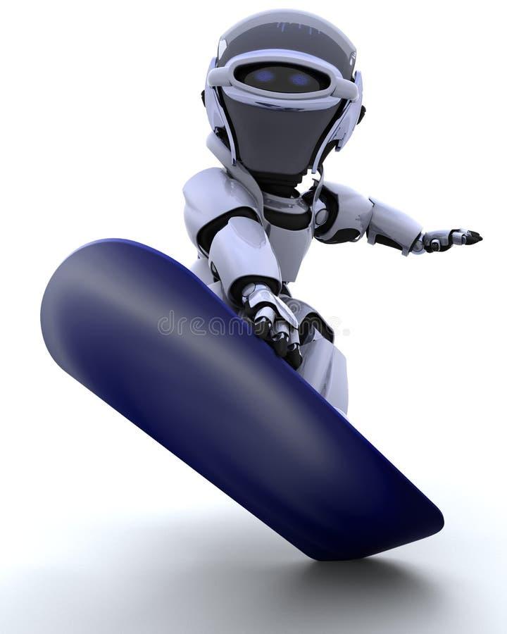 snowboard робота иллюстрация штока