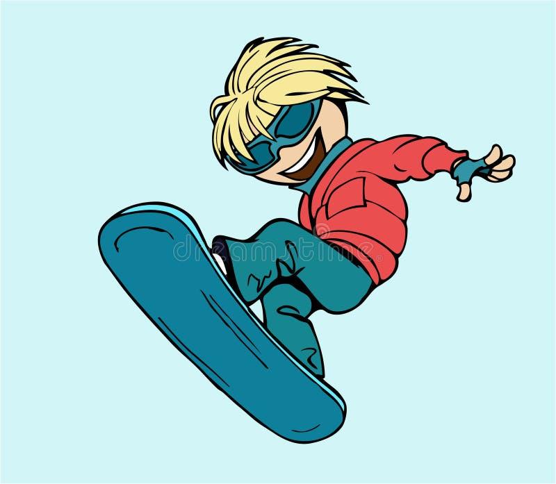 Snowboard royalty-vrije illustratie