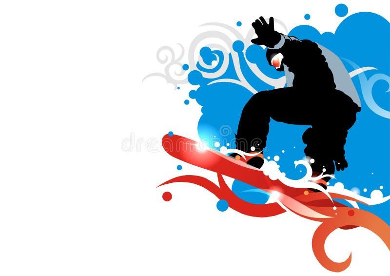 Snowboard stock illustration
