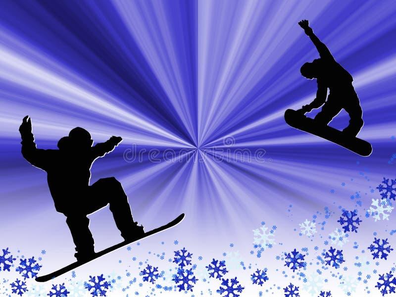Snowboard libre illustration