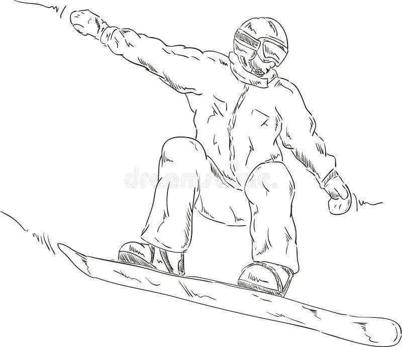 Snowboard ilustração stock