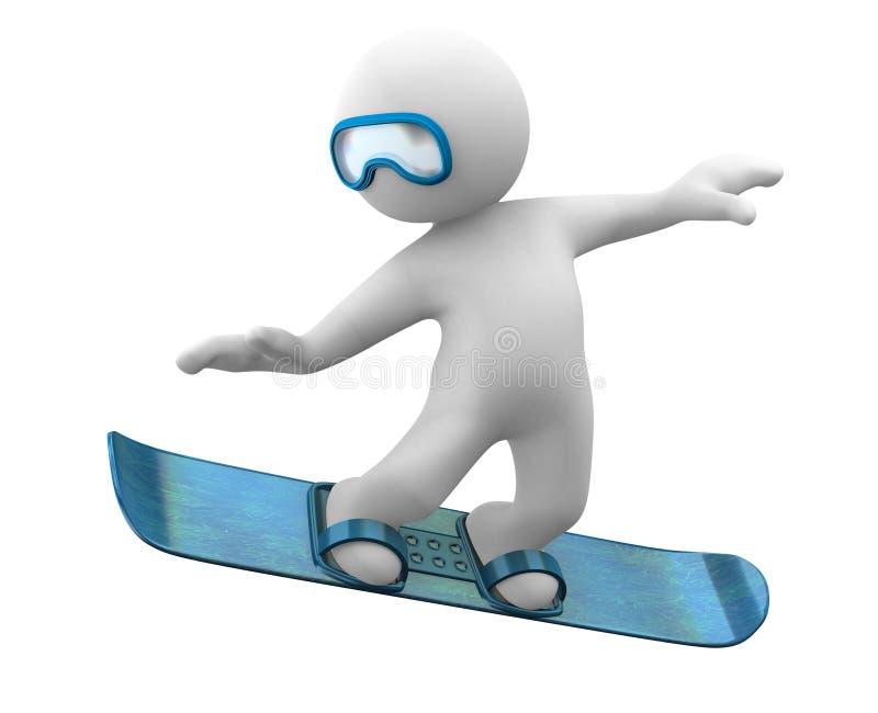 Snowboard 3d mignon illustration de vecteur
