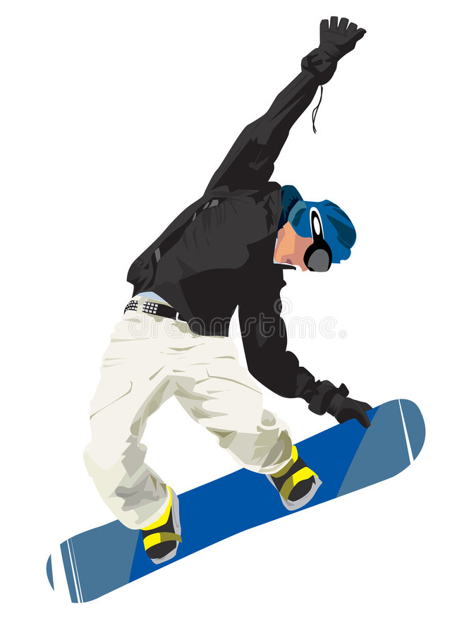 Download Snowboard stock vector. Image of jumps, extream, health - 6831929